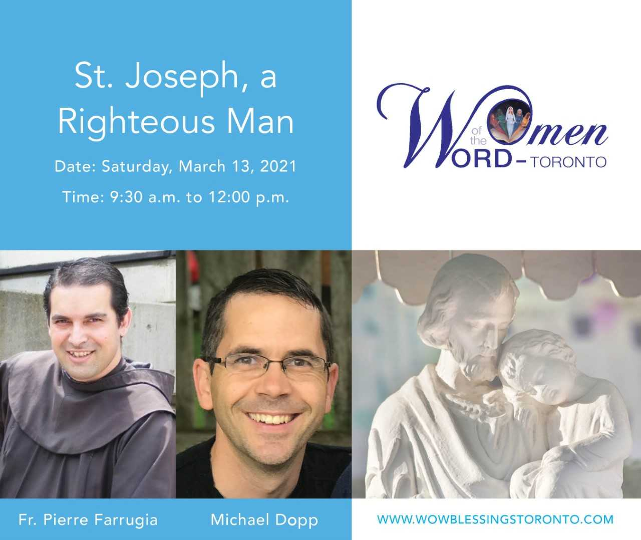 """Women of the Word  event on """"St. Joseph, a Righteous Man"""""""