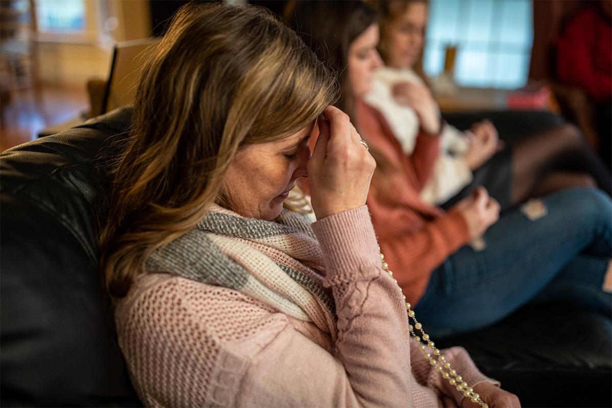 Women praying at home