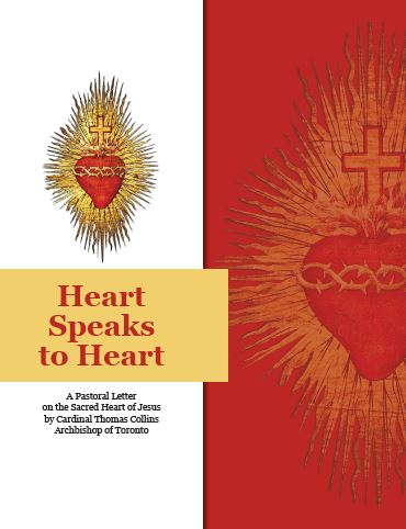 The cover page of Cardinal Thomas Collins' Archbishop of Toronto's pastoral letter on the Sacred Heart of Jesus