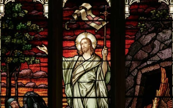 Easter Window at St. Michael's Cathedral Basilica