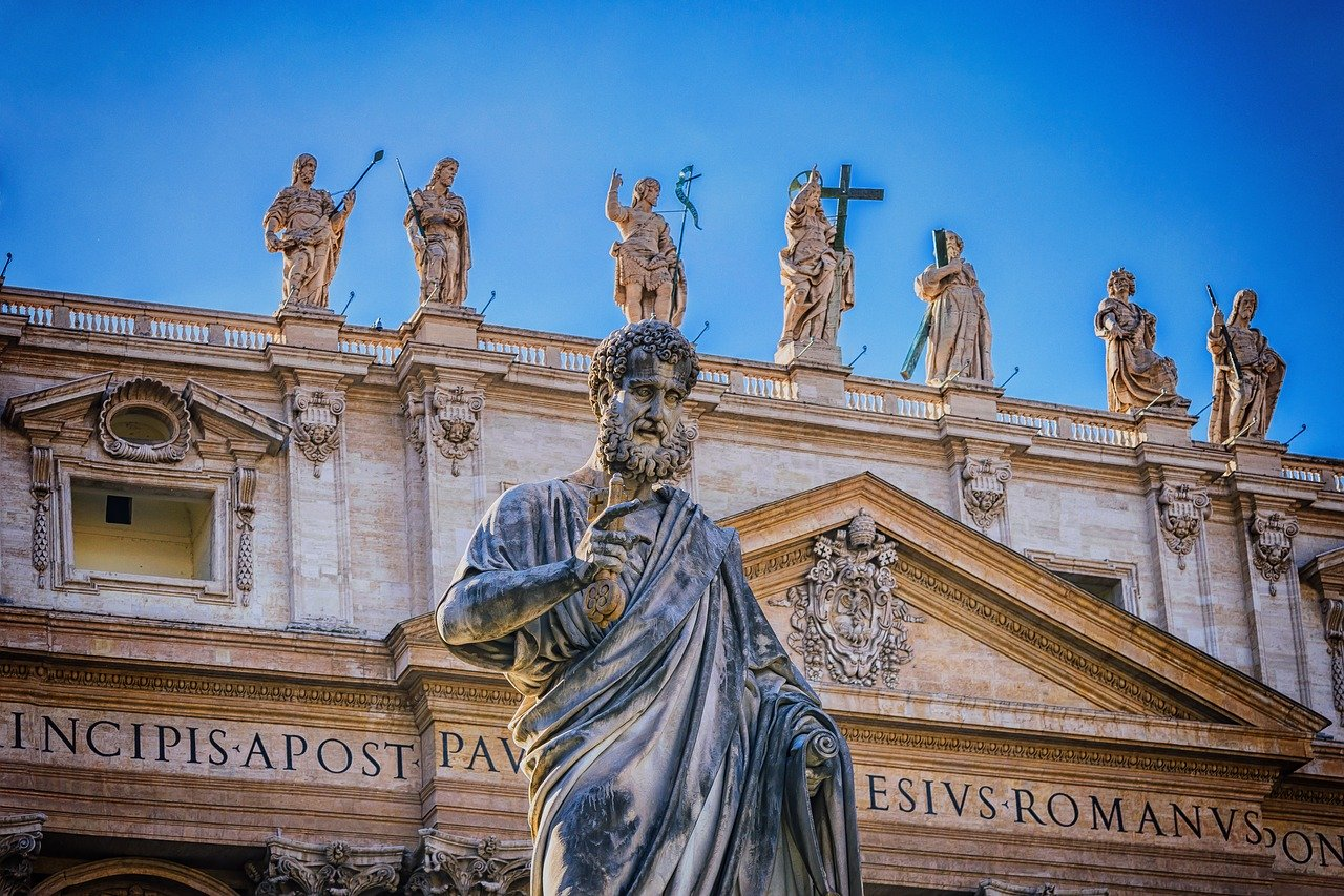 Statues of saints in the Vatican