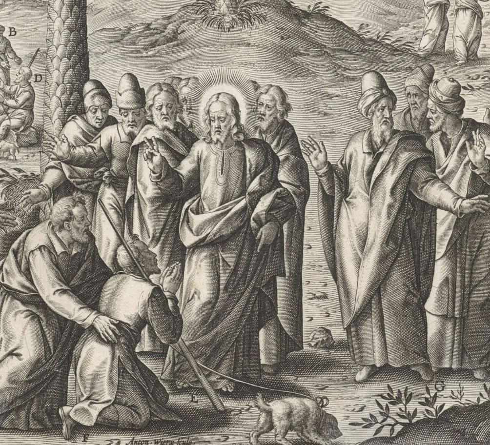 Jesus heals Bartimaeus of his blindness