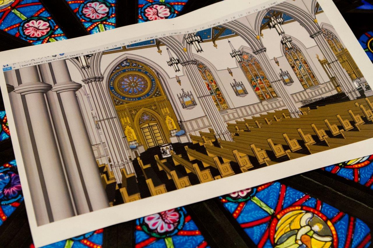 St. Michael's Cathedral open house - drawings