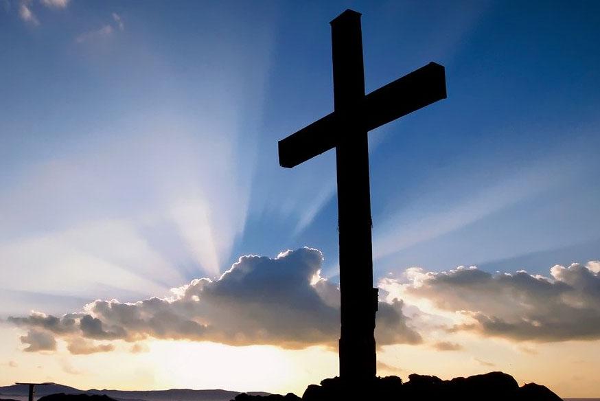 Cross in the sunlight