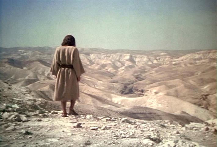 Jesus walking in the wilderness