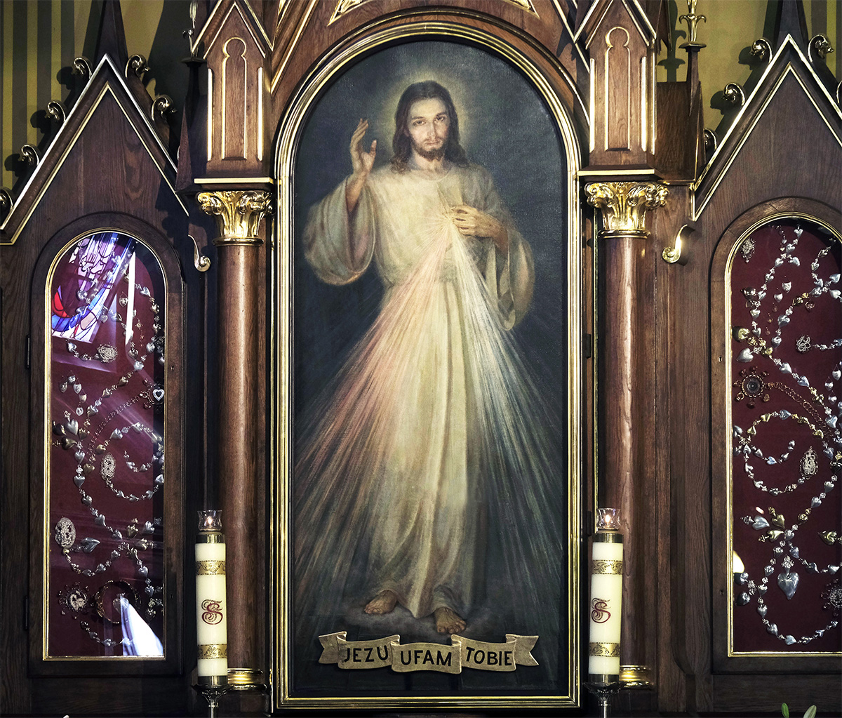 A photo of the Sacred Heart of Jesus