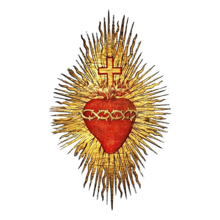 Image of the Sacred Heart of Jesus in red and gold