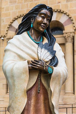 A Statue of Kateri Tekakwitha, North America's first Indigenous saint