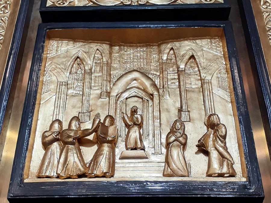St. Michael's Cathedral Basilica - door details
