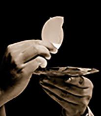 Eucharist in sepia