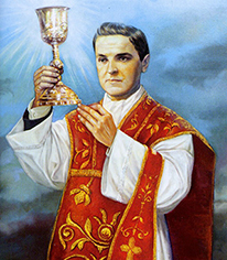 Fr. McGivney with chalice