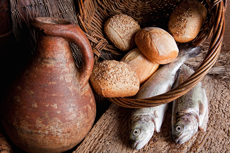 Multiplication of fish and loaves