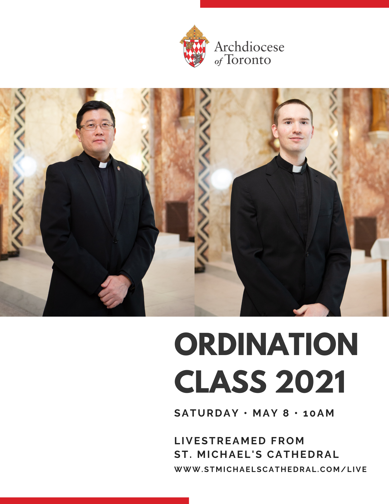 Photos of the two men who will be ordained to the priesthood of the Archdiocese of Toronto in 2021