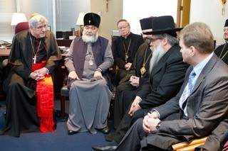 Cardinal Collins with Catholic, Orthodox Leaders and Rabbis