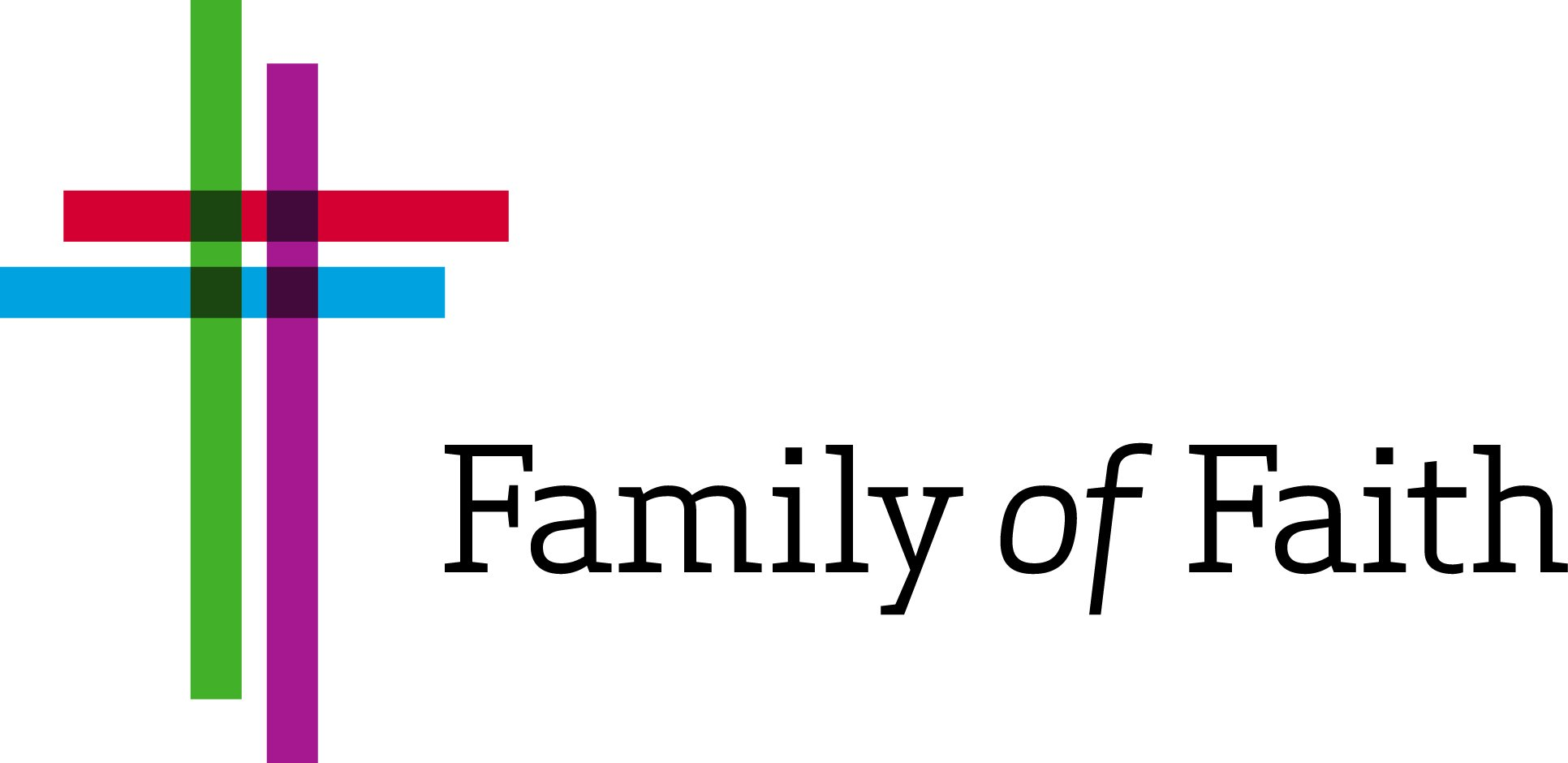Family of Faith Logo _ Three color cross